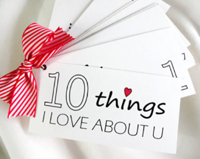 10 things I love about you…