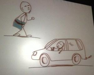 walking vs driving