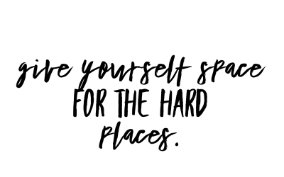 Leaving space for hard places