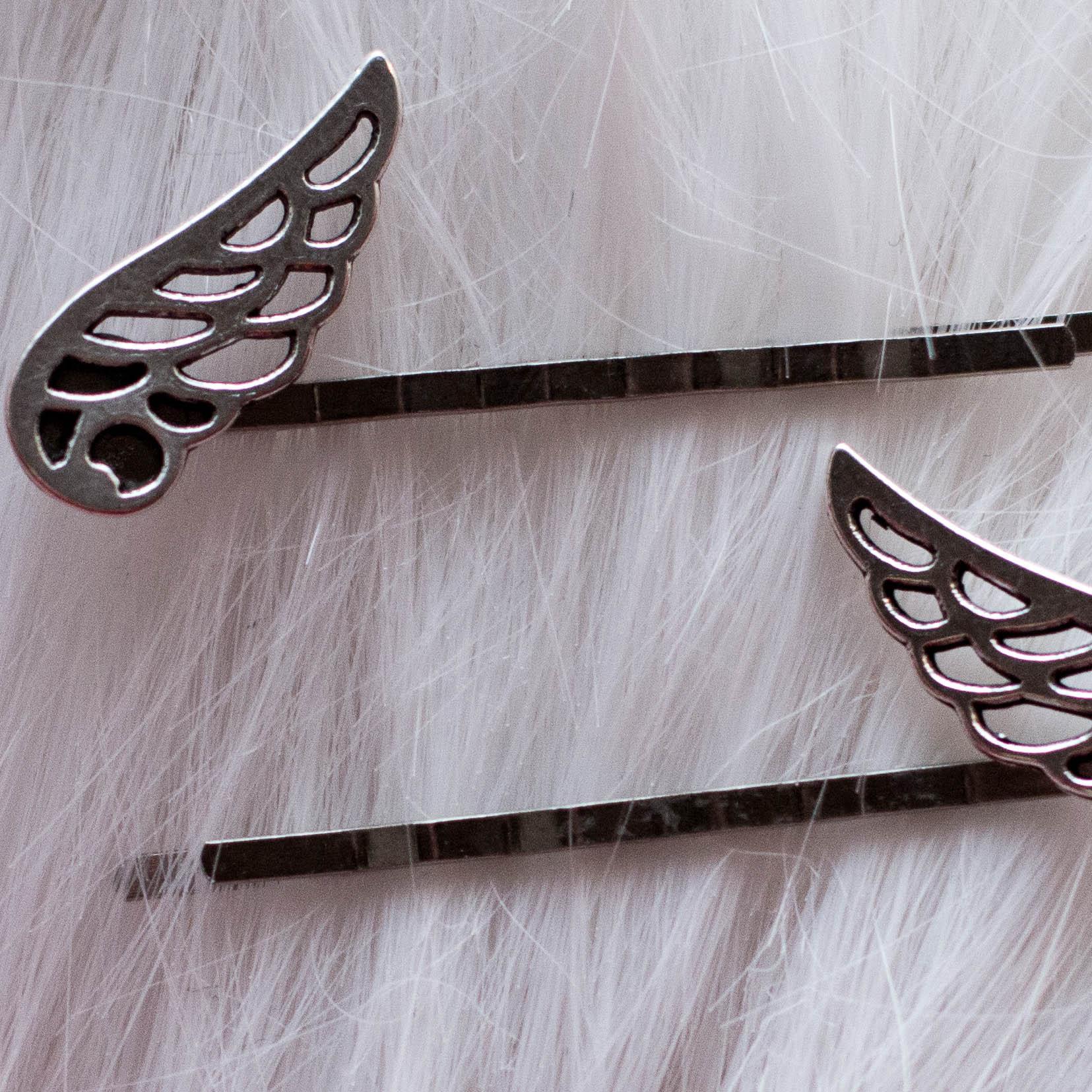 Winged Metal Hair Pins