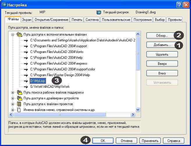 Библиотеки lisp файлов