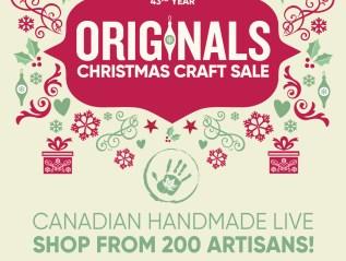 Originals Ottawa Christmas Craft Sale…December 7-17, 2017 at EY Centre, Ottawa..BOOTH 516