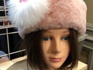 Sheepskin Headband with fur brooch