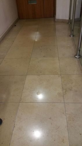 Travertine Tiled Floor Before Cleaning Nationwide Building Society Bournemouth