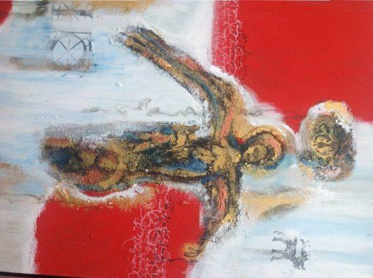 Dorthe Vedel Kunst Red Angel