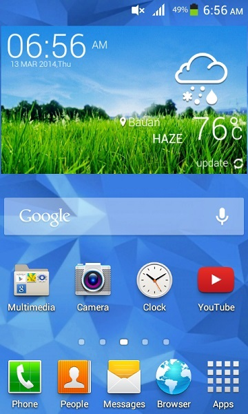 galaxy s5 weather widget