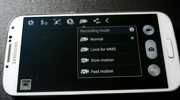 galaxy s3 slow motion video recording