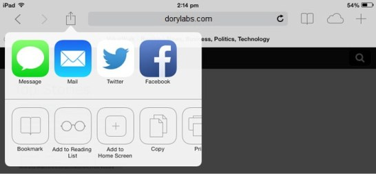 create website shortcut on ios devices