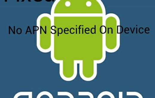 no APN specified on device fixes