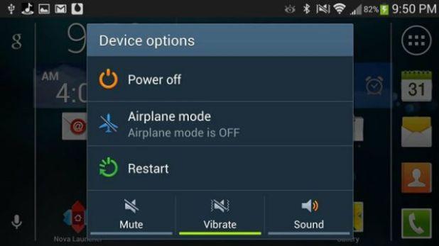 Android restart