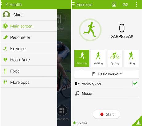 Ported Galaxy S6 S Health App