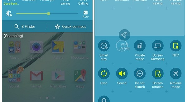 Remove S finder and quick settings on galaxy s6