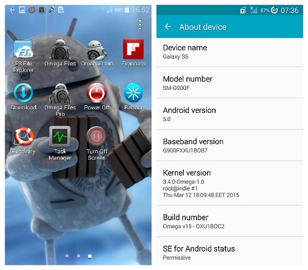Omega ROM Android 5.0 Lollipop Galaxy S5