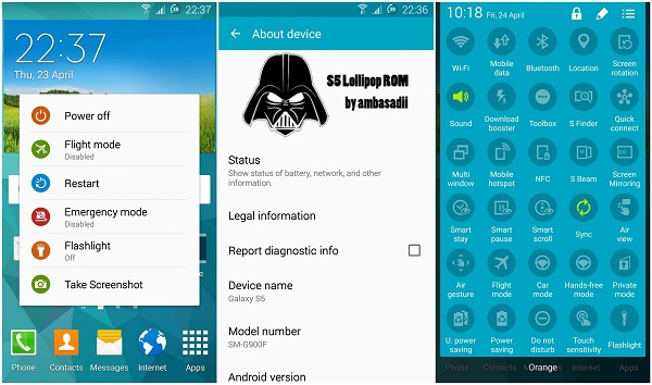 S5 Android 5.0 Lollipop ROM by Ambasadii