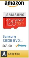 Samsung 128 GB EVO Plus SD Card