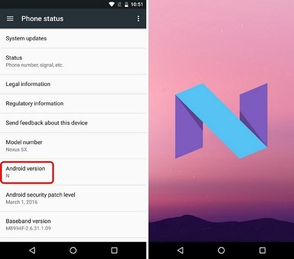 Nexus 5x Android Nougat