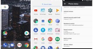 AOSP Android 7.1.1 Xperia M4 Aqua