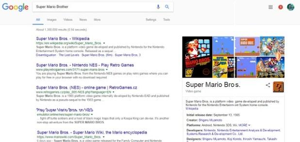 Google Super Mario Bros