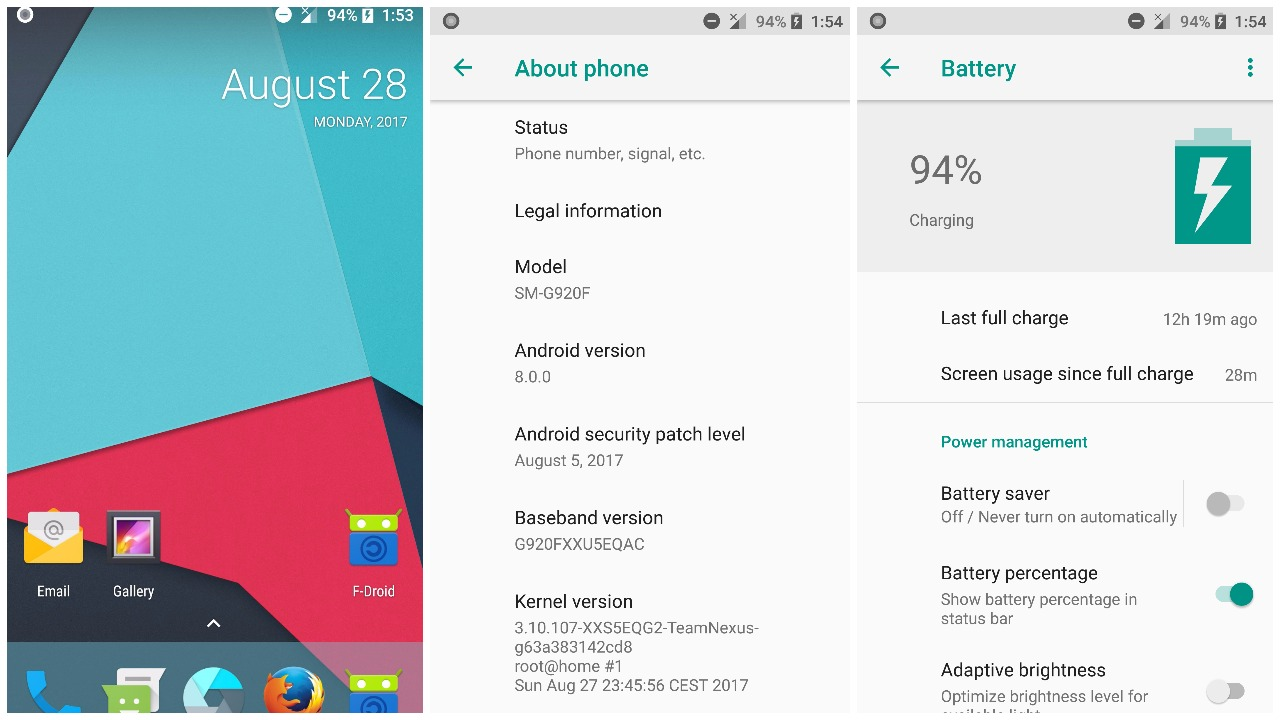 Download (Unofficial) Android 8 0 Oreo On Galaxy S6/S6 Edge - Dory Labs
