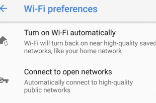 Automatic WiFi Wakeup on the Nexus5X6P Running Android Oreo