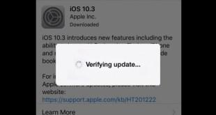 iOS stuck on verifying update