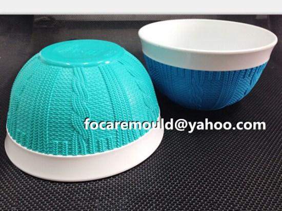 Tazon de fuente de ensalada bicolor de la rota de China