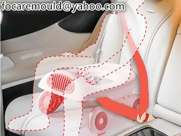 asiento de inodoro para bebe de dos colores para uso en automovil