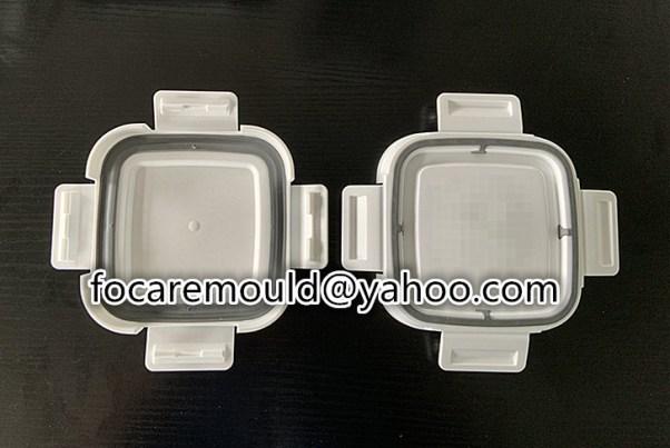 caja de almacenamiento de alimentos diseno de moldes de 2 colores