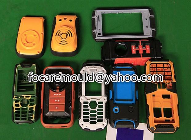 Caja del telefono movil del molde de 2 componentes