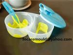 cuenco de comida para bebe doble molde