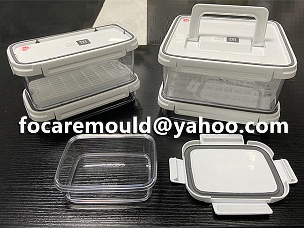 molde de inyeccion de caja de alimentos de material multiple
