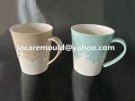 taza de agua de doble color