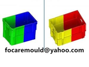 molde de contenedores de plastico doble