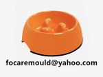 tazon de comida para mascotas de dos colores