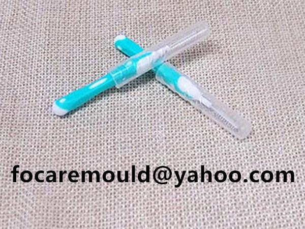 limpiadores de espacios de dientes de dos colores