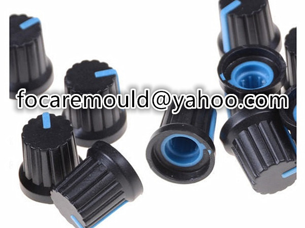 molde de tapa de interruptor de perilla de tiro multiple