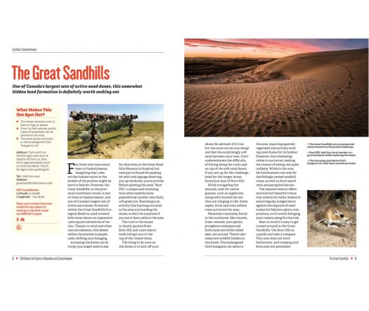 Page view of 110 Nature Hot Spots in Manitoba and Saskatchewan