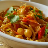 Curried Chickpea & Veggie Pasta Salad
