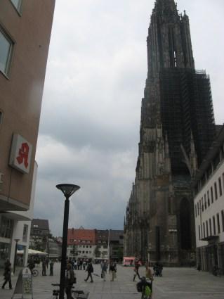 Un trozo de la espectacular torre de la catedral de Ulm
