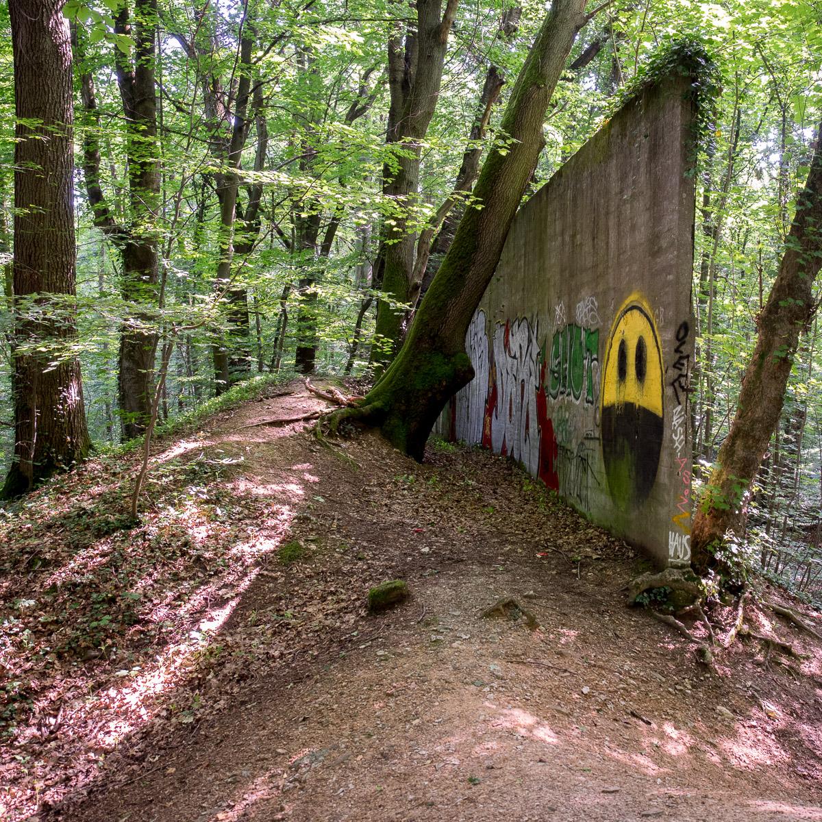 Wiesbaden/Klarenthal - Wenn Street Art in den Wald geht...