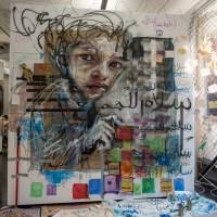 Herakut & aptART: Malen für den Frieden in Syrien - Ausstellungsbesuch in Frankfurt