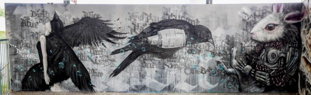 Graffiti Jugendhaus am Bügel Character Jam