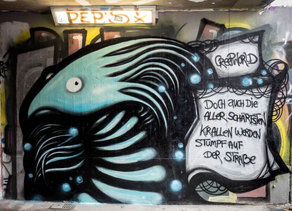 Frankfurt Stadtspaziergang Graffiti Ratswegkreisel