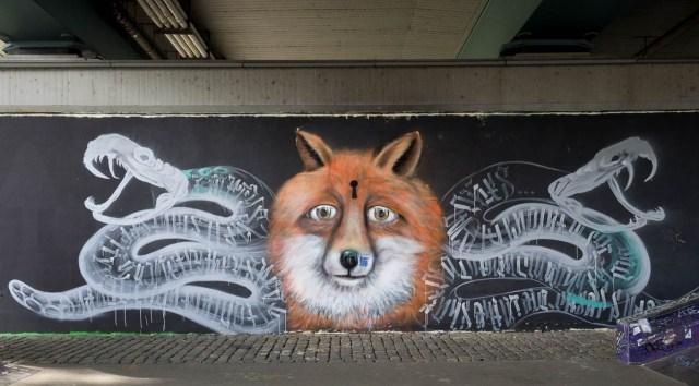 Graffiti Frankfurt Friedensbrücke