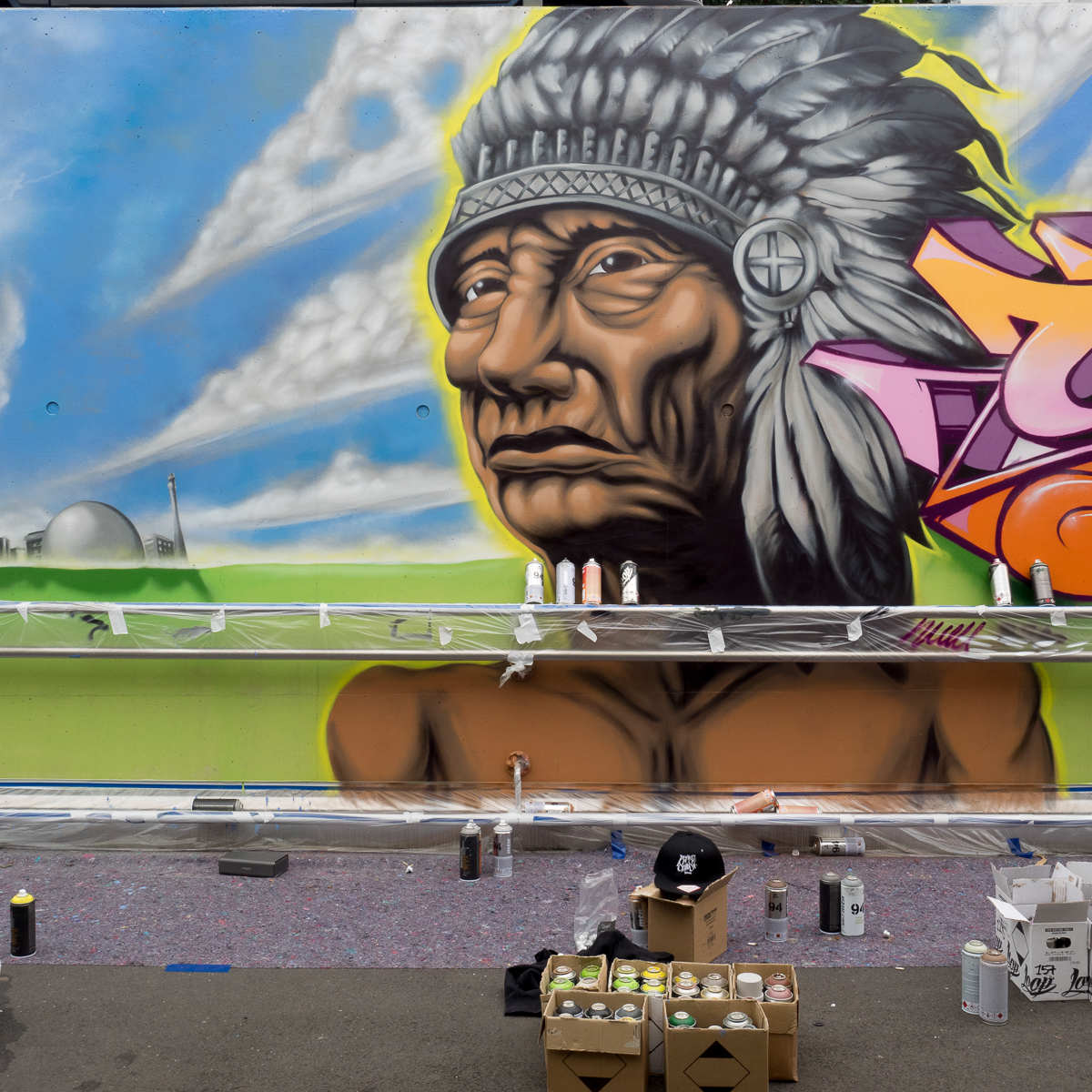 Lack & Lines – Hip Hop & Graffiti Festival in Gelnhausen 2016 – Work in progress (2) Sonntag