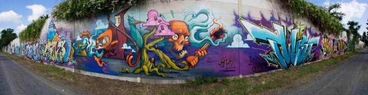 Graffiti Darmstadt Lincoln Wall Opening