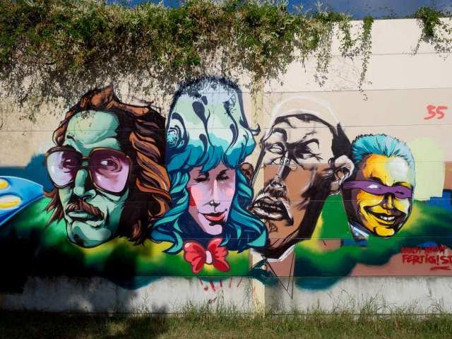 Graffiti Darmstadt Lincoln Wall