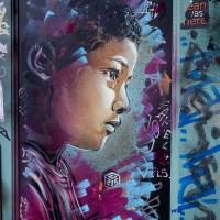 Berlin - Artwork von C215 am Haus Schwarzenberg