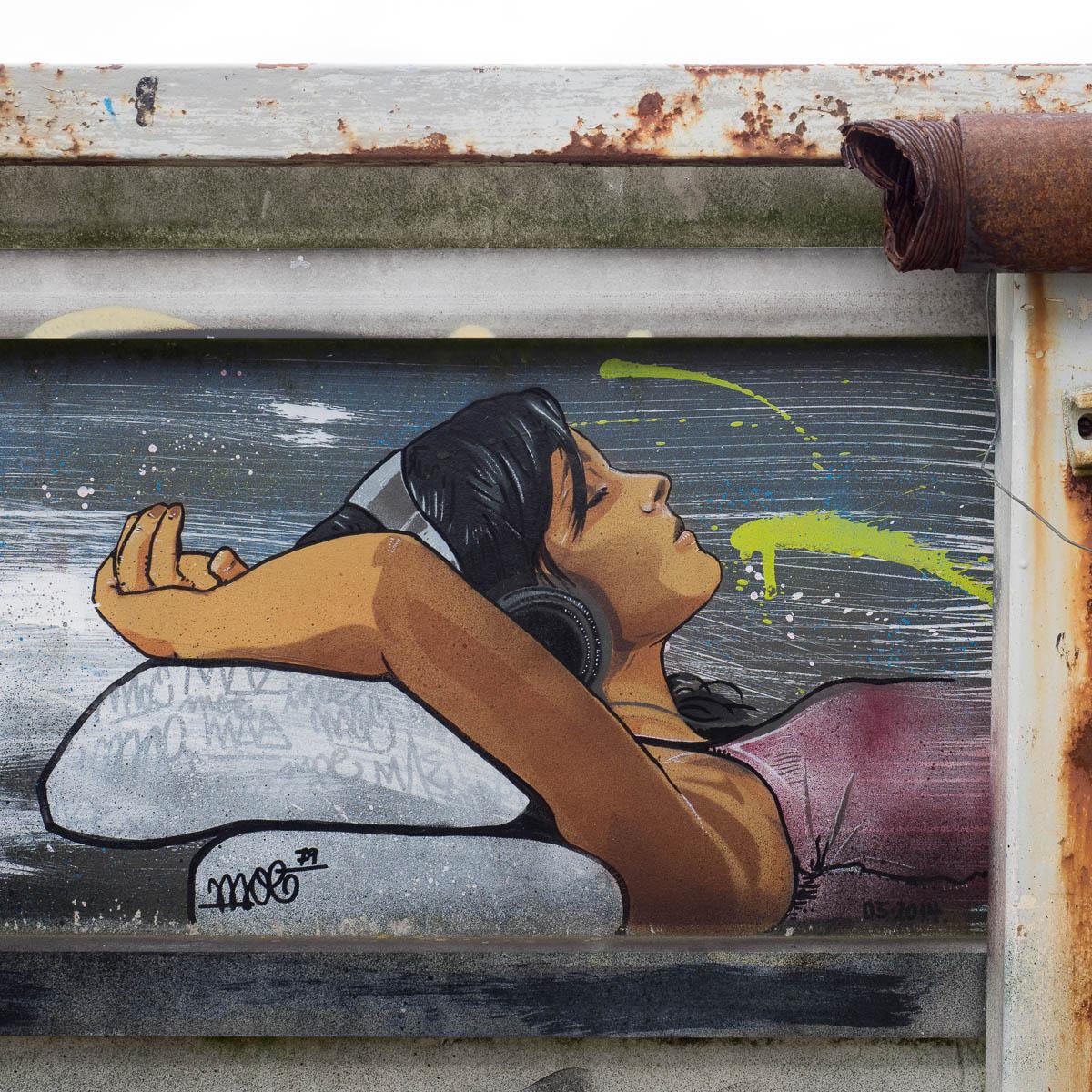 Berlin - Artwork von moe79 auf dem Teufelsberg