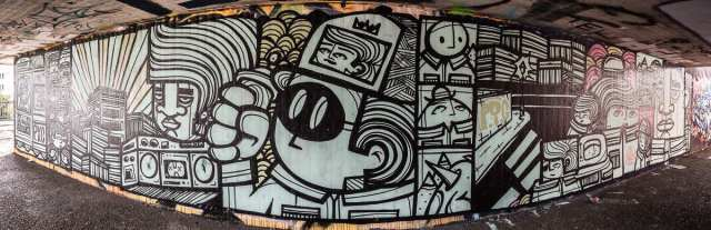 Frankfurt PYC Graffiti am Ratswegkreisel